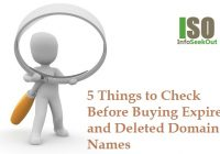 5 Things to Check Before Buying Expired and Deleted Domain Names - InfoSeekOut