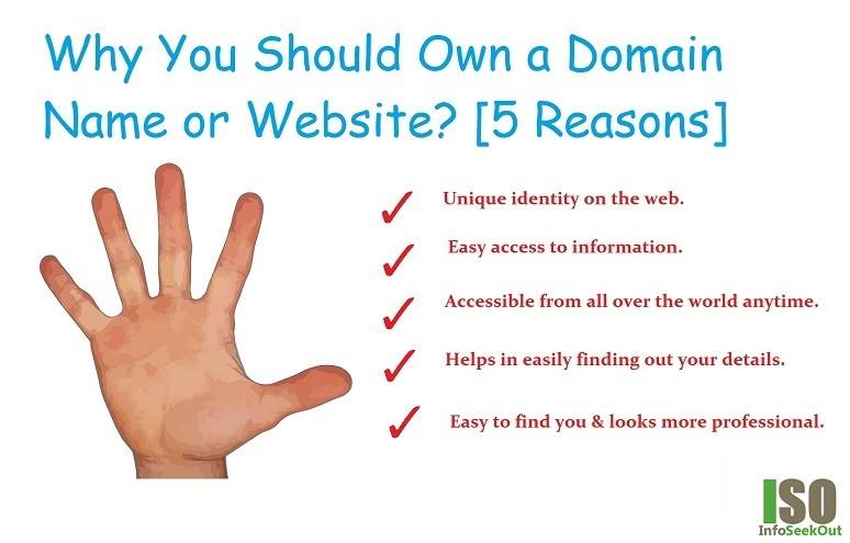 [5 Reasons] Why You Should Own a Domain Name - InfoSeekOut