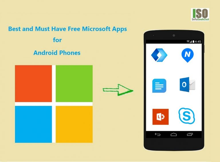 Best and Must Have Free Microsoft Apps for Android Phones - InfoSeekOut