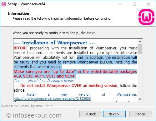 WampServer Installation Information